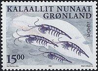 Groenland - 2001. Europa - 15,00 kr. - Multicolore