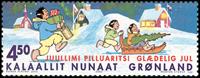 Grønland - Julefrimærker 2002 - 4,50 kr - Flerfarvet