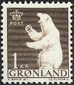 Groenland - 1963-1964. Ours polaire - 1 kr. - Brun