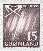 Grønland - 1963-1964. Nordlys - 15 øre - Violet