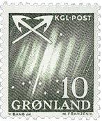 Groenland - 1963-1964. Grande ourse - 10 øre - Vert