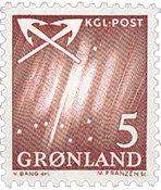 Groenland - 1963-1964. Grande ourse - 5 øre - Carmin