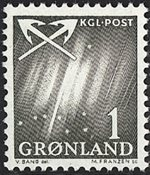 Groenland - 1963-1964. Grande ourse - 1 øre - Gris-vert