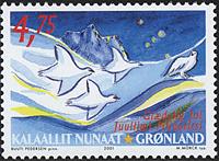 Grønland - Julefrimærker 2001 - 4,75 kr - Flerfarvet