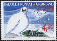 Grønland - Julefrimærker 2001 - 4,50 kr - Flerfarvet