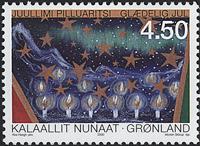 Grønland - Julefrimærker 2000 - 4,50 kr - Flerfarvet