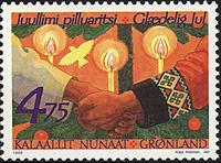 Grønland - Julefrimærker 1999 - 4,50 kr - Flerfarvet