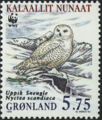 Groenland - 1999. Harfang des neiges - 5,75 kr. - Multicolores