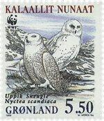 Grønland - 1999. Sneugler - 5,50 kr. - Flerfarvet