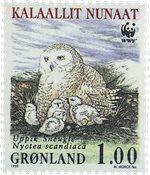 Grønland - 1999. Sneugler - 1,00 kr. - Flerfarvet