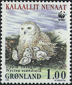 Groenland - 1999. Harfang des neiges - 1,00 kr. - Multicolores