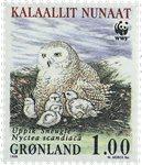 Groenland - 1999. Harfang des neiges - 1,00 kr. - Multicolores