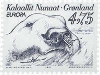 Groenland - 1977. Europa - 4,75 kr. - Gris-bleu