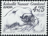 Grønland - 1997. Europafrimærke - 4,75 kr. - Gråblå