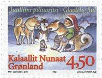 Grønland - Julefrimærker 1997 - 4,50 kr - Flerfarvet