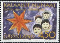 Grønland - Julefrimærker 1996 - 4,50 kr - Flerfarvet