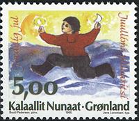 Grønland - Julefrimærker 1995 - 5,00 kr - Flerfarvet