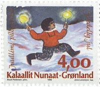 Grønland - Julefrimærker 1995 - 4,00 kr - Flerfarvet