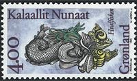 Grønland - 1995. Galionsfigurer - 4,00 kr. - Flerfarvet