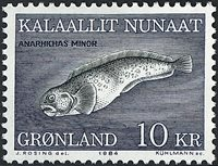 Groenland - 1984. Le poisson-chat - 10 kr. - Multicolore