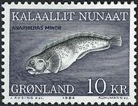 Groenland - 1984. Le poisson-chat - 10 kr. - Multicolore