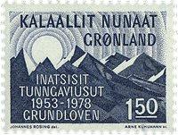 Grønland - Grundloven - 1,50 kr. - Blå