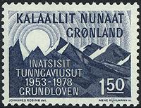 Groenland - Constitutionnelle du Danemark - 1,50 kr. - Bleu-noir