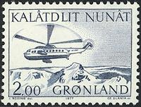 Grønland - 1977. Helikopter - 2,00 kr. - Blå