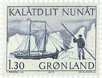 Grønland - 1975. Ishavsskib - 1,30 kr. - Blå