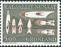 Grønland - 1988. Etnografi - 5,00 kr. - Grøn