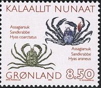 Grønland - 1993 Krabber - 8,50 kr. - Flerfarvet