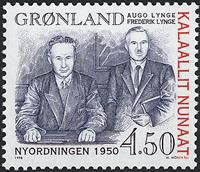 Grønland - 1998. Nyordningen 1950 - 4,50 kr. - Gråblå / Rød