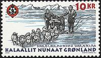 Grønland - 2000. Slædepatruljen Sirius 50 år - 10 kr. - Flerfarvet