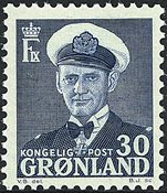 Groenland - Roi Frédéric IX - 30 øre - Bleu