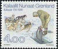 Groenland - 250ème anniversaire de Jakobshavn - 4,00 kr. - Multicolore