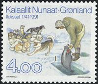 Grønland - Jakobshavn/Ilulisats 250 års byjubilæum  - 4,00 kr. - Flerfarvet
