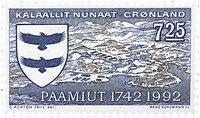 Grønland - Paamiut (Frederikshaab) 250 års byjubilæum - 7,25 kr.