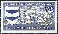 Greenland - 1992. 250th Anniversary of Paamiut - 7,25 kr - Blue/Olive brown