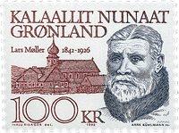 Grønland - Kunstneren, redaktør Lars Møller - 100 kr. Brunrød/Mørklilla