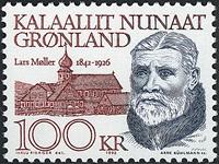 Groenland- 150ème anniversaire Lars Moller -100 kr- Gris-bleu et brun-rouge