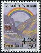 Groenland - 1992. Lutte contre le cancer - 4,00+0,50 kr. - Multicolore