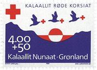Groenland - 1993. Croix-Rouge groenlandaise -4,00+0,50 kr - Violet et rouge