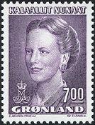 Grønland - Dronning Margrethe II - 7,00 kr. - Lilla
