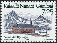 Grønland - 1994. Ammassaliks 100 års byjubilæum - 7,25 kr. - Flerfarvet