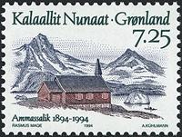 Groenland - 1994. Centenaire d´Ammassalik - 7,25 kr. - Multicolore