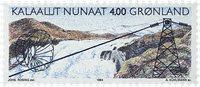Grønland - 1994. Vandkraftværket i Buksefjorden - 4,00 kr. - Flerfarvet