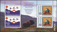 Greenland - 1993. Souvenir sheet containing 2 of no. GL237-GL238
