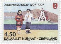 Groenland - 1997. Ville de Nanortalik - 4,50 kr. -  Multicolore