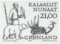 Groenland - 2000 Les Vinkings Arctiques II - 21,00  kr - Noir et brun-rouges