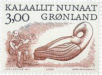 Groenland - 2000. Les Vinkings Arctiques II - 3,00  kr - Noir et brun-rouges